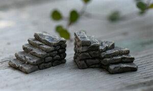石かいだん2タイプ 階段 建物 テラリウム フィギュア アクアリウム ハーバリウム コケリウム スノードーム