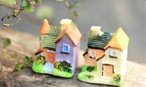 4タイプヨーロピアン別荘 ドールハウス 建物模型 テラリウムフィギュア コケテラリウム ジオラマ 苔盆栽 アクアリウム