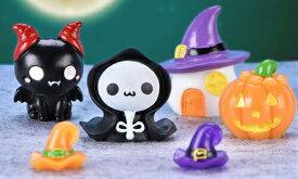 ハロウィン かぼちゃ 妖精 テラリウムフィギュア ミニチュア ミニフィギュア イベント 箱庭 コケリウム