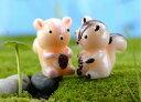 琥珀リスちゃんタイプお任せ[動物/小さい/アクセサリーパーツ/テラリウム/フィギュア/ハンドメイド/小物/動物/おもち…