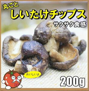 おつまみ 丸ごと しいたけチップス 人気サイズ200g 【ネコポス便送料無料】