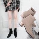ソックスブーツ ショートブーツ レディース 秋 ブーツ 韓国 冬靴 伸縮性 ストレッチ素材 疲れない 歩きやすい 美脚 脚…