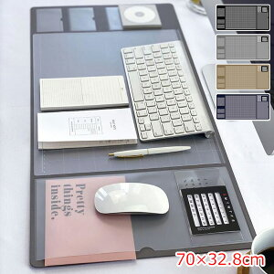 デスクマット 大判マウスパッド PC テーブルマット 名刺入れ 付箋収納 カレンダー機能 ビジネス 多機能 下敷き 低反発 汚れ防止 滑り止め キズ防止 滑り止め オフィス 卓上収納 撥水 おしゃ