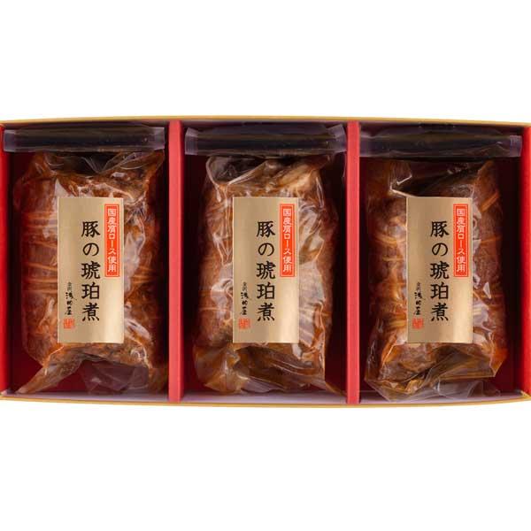≪金沢浅田屋≫豚の琥珀煮 3本入(国産肩ロース2本・国産バラ肉1本)【お歳暮】【ギフト】