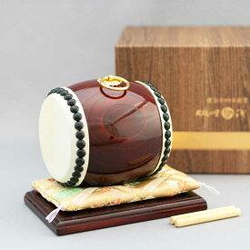 ≪太鼓の里 浅野≫太鼓匠・この道400年の浅野太鼓が作る飾り太鼓小豆太鼓 (化粧箱付)