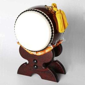 ≪太鼓の里 浅野≫太鼓匠・この道400年の浅野太鼓が作る飾り太鼓 飾り太鼓(台・バチ付)4寸