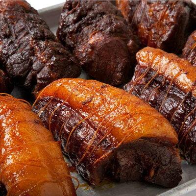 【自家製焼豚】【チャーシューセット】≪スミヤ精肉店≫話題の自家製焼豚(2本)特製タレ付