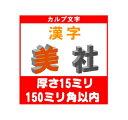 [カルプ文字] 漢字一文字 厚さ15ミリ 150ミリ角以内