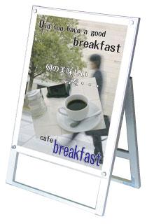 A型看板 スタンド看板 アクリルが綺麗なB2ポスタースタンド ポスター用スタンド看板B2片面ホワイト PSSK-B2KW【あす楽対応】【送料無料】看板 立て看板