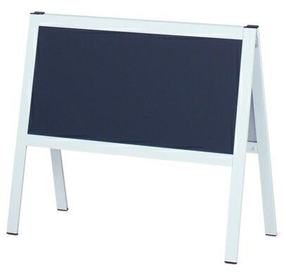ロータイプ看板 黒板 黒板スタンド ブラックボード スタンド看板 黒板看板 チョーク用 案内板 両面仕様 屋内 HS-12KW【本体のみ】