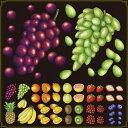 シール ぶどう 果物 装飾 デコレーションシール チョークアート 窓ガラス 黒板 看板 POP ステッカー 用