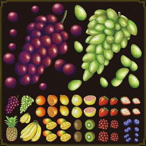 シール ぶどう 果物 装飾 デコレーションシール チョークアート 窓ガラス 黒板 看板 POP ステッカー (最低購入数量3枚〜)