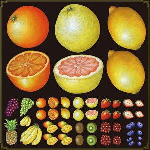 シール オレンジ レモン 果物 装飾 デコレーションシール チョークアート 窓ガラス 黒板 看板 POP ステッカー (最低購入数量3枚〜)