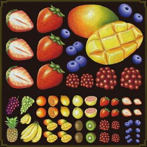 シール 苺 マンゴー 果物 装飾 デコレーションシール チョークアート 窓ガラス 黒板 看板 POP ステッカー (最低購入数量3枚〜)