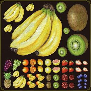 シール バナナ キウイ 果物 装飾 デコレーションシール チョークアート 窓ガラス 黒板 看板 POP ステッカー (最低購入数量3枚〜)