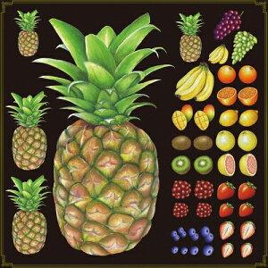 シール パイナップル 果物 装飾 デコレーションシール チョークアート 窓ガラス 黒板 看板 POP ステッカー (最低購入数量3枚〜)