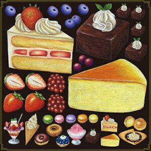 シール ショートケーキ チーズケーキ 装飾 デコレーションシール チョークアート 窓ガラス 黒板 看板 POP ステッカー (最低購入数量3枚〜)