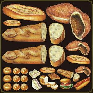 シール フランスパン カレーパン 装飾 デコレーションシール チョークアート 窓ガラス 黒板 看板 POP ステッカー (最低購入数量3枚〜)