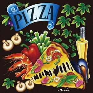 シール ピザとシーフード 野菜 装飾 デコレーションシール チョークアート 窓ガラス 黒板 看板 POP ステッカー (最低購入数量3枚〜)
