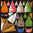 シール ソフトクリームアイス 装飾 デコレーションシール チョークアート 窓ガラス 黒板 看板 POP ステッカー 用