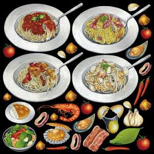 シール パスタ サラダ 装飾 デコレーションシール チョークアート 窓ガラス 黒板 看板 POP ステッカー (最低購入数量3枚〜)