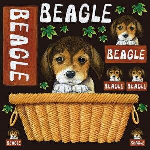 シール ビーグル犬 装飾 デコレーションシール チョークアート 窓ガラス 黒板 看板 POP ステッカー (最低購入数量3枚〜)