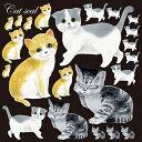 シール アメリカンショートヘア スコッチフォール 猫 装飾 デコレーションシール チョークアート 窓ガラス 黒板 看板 …
