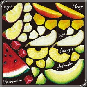 シール 果物 リンゴ スイカ 装飾 デコレーションシール チョークアート 窓ガラス 黒板 看板 POP ステッカー (最低購入数量3枚〜)