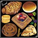 シール ベーカリー アンパン 焼き立て 装飾 デコレーションシール チョークアート 窓ガラス 黒板 看板 POP ステッカー 用