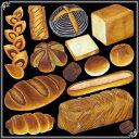 シール ベーカリー フランスパン 焼き立て 装飾 デコレーションシール チョークアート 窓ガラス 黒板 看板 POP ステッカー 用