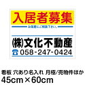 [看板]不動産看板・管理用10枚セット(FNK-101BN・樹脂板・名入れ代込)