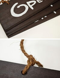 木製ドアプレート「OPEN/CLOSED」