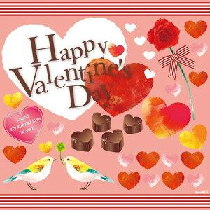 シール バレンタイン チョコレート 小鳥 ハートマーク 薔薇 装飾 デコレーションシール チョークアート 窓ガラス 黒板 看板 POP ステッカー (最低購入数量3枚〜)