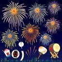 シール 夏祭り 花火 かき氷 提灯 風鈴 団扇 太鼓 装飾 デコレーションシール チョークアート 窓ガラス 黒板 看板 POP ステッカー 用