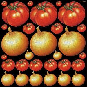 シール 野菜 トマト 玉ねぎ 装飾 デコレーションシール チョークアート 窓ガラス 黒板 看板 POP ステッカー (最低購入数量3枚〜)