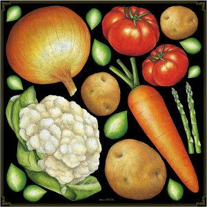 シール 野菜 アソート玉ねぎ カリフラワー にんじん じゃがいも トマト アスパラガス 装飾 デコレーションシール チョークアート 窓ガラス 黒板 看板 POP ステッカー (最低購入数量3枚〜)
