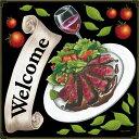 シール ローストビーフ welcome ワイングラス トマト バジル 装飾 デコレーションシー...