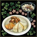 シール チーズ 盛り合わせ ナッツ アイビー 花 装飾 デコレーションシール チョークアート 窓ガラス 黒板 看板 POP ステッカー 用