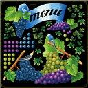シール ぶどう メニュー リボン menu インコ アイビー 装飾 デコレーションシール チョークアート 窓ガラス 黒板 看板…