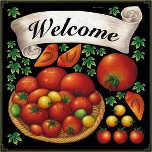 シール トマト リボン welcome アイビー 野菜 装飾 デコレーションシール チョークアート 窓ガラス 黒板 看板 POP ステッカー (最低購入数量3枚〜)