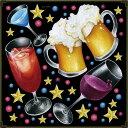 シール ビール カクテル ワイン 乾杯 星 グラス 装飾 デコレーションシール チョークアート 窓ガラス 黒板 看板 POP ステッカー 用