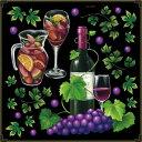 シール ワイン サングリア ボトル 瓶 アイビー ぶどう 装飾 デコレーションシール チョークアート 窓ガラス 黒板 看板 POP ステッカー 用