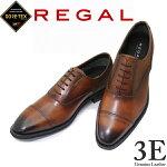 GORE-TEXゴアテックス靴リーガル35HRBBブラウン3ENEWREGALストレートチップリーガルビジネスシューズ