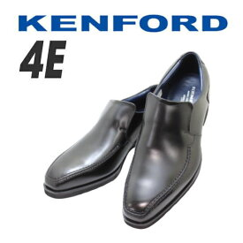 REGAL KENFORD ケンフォード)KP03AB 黒スリッポン バンフ バンプ 紐なし ビジネスシューズ 革靴 メンズ用(男性用) 就活 本革(レザー)幅広 4E 黒(ブラック)