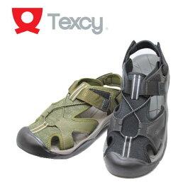 サンダルアシックス商事 テクシー TEXCY TM7584 黒 カーキ メンズサンダル スポーツサンダル【靴】