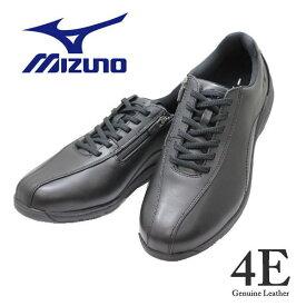 送料無料 メンズウォーキングシューズ MIZUNOミズノ B1GC 191809 黒 SW 4E( LD40 5 SW) 本革 幅広 ワイド 靴 カジュアル2021