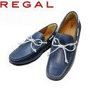 リーガル REGAL 55 PR AF ネービー バンプシューズ スリッポン靴 ビジネスシューズ カジュアル メンズ 紳士靴 本革 革…