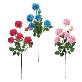 【造花 バラ】ミルフィーユローズ 5輪(造花 薔薇・ばら・ローズ)