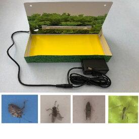 家庭用LED捕虫器型名 MU439K 消費電力 1w 5V ACアダプター付き 粘着シート3枚付き、