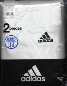 アディラス【楽天市場】【グンゼ】【定番】GUNZEグンゼ adidas【VネックTシャツ2枚組】0152【1組のみネコポス便可】